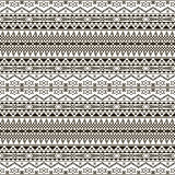 Seamless black and white pattern with ethnic motifs Royalty Free Stock Image