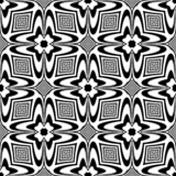 Seamless black and white pattern stock illustration