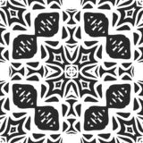 Seamless black and white pattern royalty free stock images