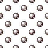 Seamless black and white pattern with polka dots Stock Photography