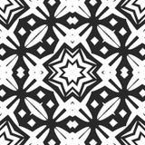 Seamless black and white pattern stock photo