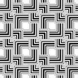 Seamless black and white pattern, simple vector stripes geometri Stock Photo