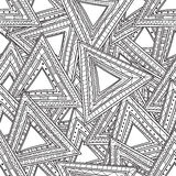 Seamless black and white pattern of triangles. Coloring pages for adults. Stock Photography