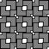 Seamless black and white pattern, vector geometric Royalty Free Stock Image