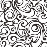 Seamless black and white pattern. Vector illustration. Royalty Free Stock Images