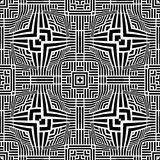 Seamless black & white pattern vector illustration Royalty Free Stock Image