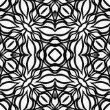 Seamless black & white pattern vector illustration Stock Photos
