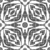 Seamless black & white pattern vector illustration Stock Photo