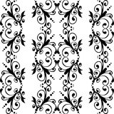 Seamless black & white pattern. Vector seamless black & white ornate pattern Royalty Free Stock Images