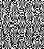 Seamless Black and White Polygonal Pattern. Stock Photography