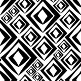 Seamless black and white rhomb vector pattern vector illustration