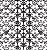 Seamless black and white small floral elements wallpaper Royalty Free Stock Photos
