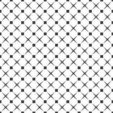 Seamless black and white square dots and crosses pattern vector Royalty Free Stock Photos