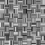 Seamless Black and White Straight Vertical and Horizontal Variable Width Stripes Stock Photos