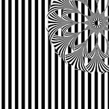 Seamless black and white stripped pattern Royalty Free Stock Image