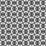 Seamless black and white swirl pattern. Seamless black and white swirl line pattern Royalty Free Stock Photo