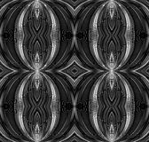 Seamless black and white texture with curved lines Royalty Free Stock Photos