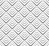 Seamless black and white texture with triangular scales Stock Photo