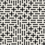 Seamless Black & White Vector Geometric Plus Minus Shape Pattern Royalty Free Stock Photography