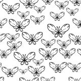 Seamless black and white vector pattern with Stock Photography