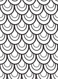 Seamless black and white vector pattern with scales. For your design Stock Images
