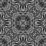 Black and white Seamless Repeating Vector Pattern Royalty Free Stock Image