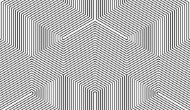 Seamless black and white vintage trilateral op art lines pattern vector. Seamless black and white vintage trilateral op art lines pattern Royalty Free Stock Photography
