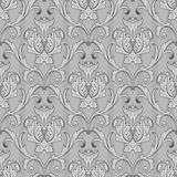Seamless black white wallpaper pattern Stock Image