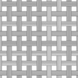 Seamless black and white weave pattern design Stock Photos