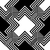 Seamless black and white weave pattern design Stock Photo