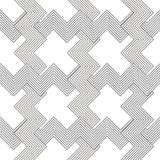 Seamless black and white weave pattern design Royalty Free Stock Photos