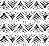 Seamless black zig zag pattern. Seamless black zig zag dots pattern Stock Photography