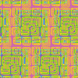 Seamless Blocks. Seamless pattern of spirals with an indigenous pop-art style Royalty Free Stock Photography