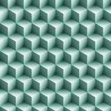 Seamless Blocks Background. Art in 3d Cube Royalty Free Stock Images