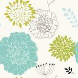 Seamless blom- bakgrund Royaltyfria Bilder