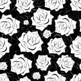Seamless blom- bakgrund Arkivbild