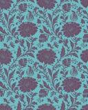 Seamless-Blom- bakgrund för tyg vektor illustrationer