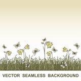Seamless blom- bakgrund för vektor Royaltyfri Foto