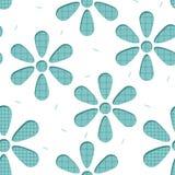 Seamless blom- bakgrund mönstrar Royaltyfria Bilder