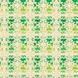 Seamless blom- grön modell Royaltyfri Foto
