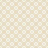 seamless blom- guld- modell Abstrakt geometrisk textur med små blommor, fyrkanter, raster, galler, repetitiontegelplattor stock illustrationer