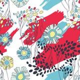 Seamless blom- mönstrar Royaltyfri Foto