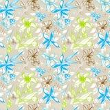 Seamless blom- mönstrar Arkivfoto