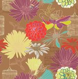 Seamless blom- mönstrar Royaltyfria Foton