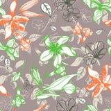 Seamless blom- mönstrar Arkivbilder