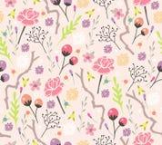 Seamless blom- mönstrar Arkivfoton