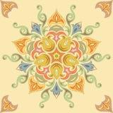 Seamless blom- mönstrar i pastell färgar. Mandala Arkivbilder
