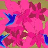 seamless blom- modell Arkivfoton