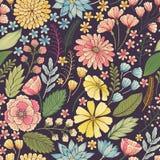 seamless blom- modell Royaltyfri Bild