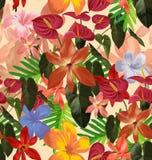 seamless blom- modell Arkivfoto